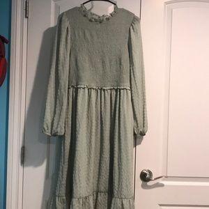 Stevie Hender NWOT midi sage green dress